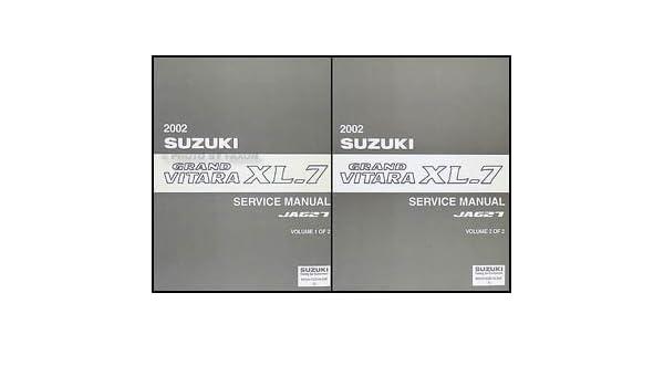 2002 suzuki grand vitara xl 7 repair shop manual set original rh amazon com 2002 suzuki xl7 repair manual free download 2002 suzuki grand vitara xl7 owner's manual