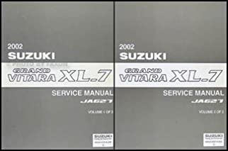 2002 suzuki grand vitara xl 7 repair shop manual set original rh amazon com 2002 suzuki xl7 owners manual pdf 2002 suzuki xl7 owner's manual download