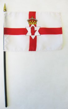"Northern Ireland - 4"" x 6"" World Stick Flag"