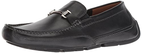 (CLARKS Men's Ashmont Brace Loafer, Black Leather, 115 M US)
