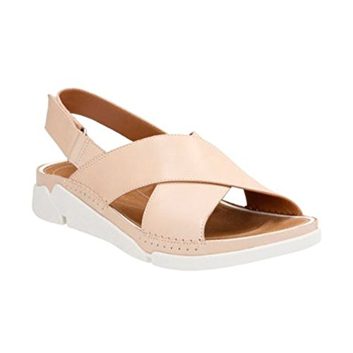 CLARKS New Tri Alexia Nude Leather 6 Womens - Women Nude New