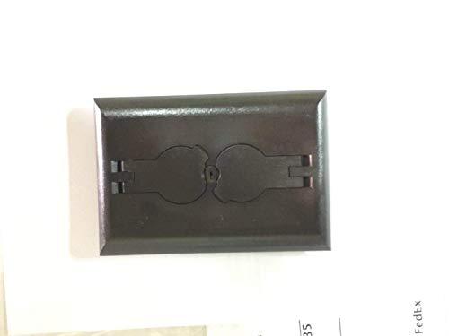 Arlington Industries FLBRF101BR-1 Retrofit Electrical Floor Box with Flip Lids for Existing Floors, Dark Brown, 1-Pack