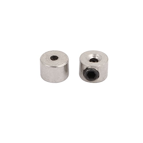 (uxcell 2Pcs RC Airplane Plane Landing Gear Wheel Stop Set Collar 1.6mm Shaft Hole Dia.)