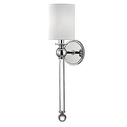 online retailer 29e3b 6d665 Amazon.com: Hudson Valley Lighting 6031-PN One Light Wall ...
