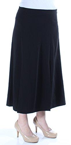 Lauren Ralph Lauren Womens Sueded Crepe Midi A-Line Skirt Black (8)