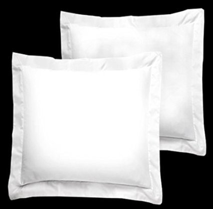 "Precious Linen White Solid 600 Thread Count Euro Square 26""x"