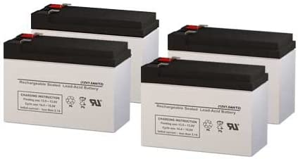 Set of 4 Para Systems Minuteman Pro 1000r UPS Replacement Batteries