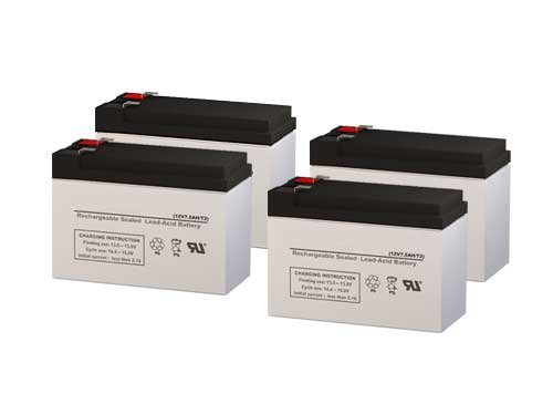 (PCM Powercom King Pro KIN-2200AP UPS Replacement Batteries - Set of 4)