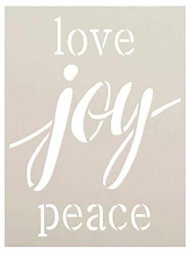 Love Joy Peace by StudioR12 | Christmas Fruit of The Spirit | Reusable Mylar Template | DIY Farmhouse Holiday Decor & Faith Gift | Paint Wood Signs | Home Crafting -