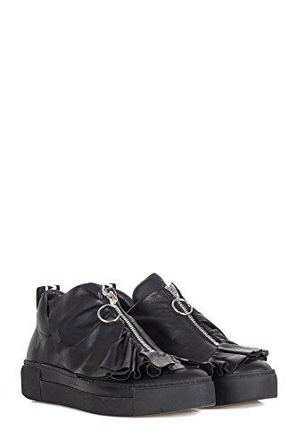 Vic Matié Damen 1s6227d Schwarz Leder Slip On Sneakers