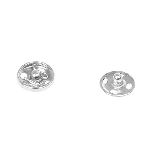 Let's dream switchs with Clothes Sewing 10mm Dia Press Studs Buttons Fastener Silver Tone 20 -