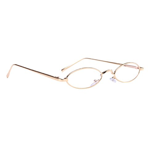 Vanguardista dorado Cómodo Sol Gafas lisa Hombre para de marco lente de Gusto Personalidad Resalta Mujer Complimentos Homyl qRwPW
