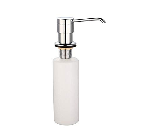 Loneflash Soap Dispenser, White Liquid Soap Dispenser Lotion Pump Cover Built in Kitchen Sink Countertop Perfect for Any Home Cleaning, Cooking, or DIY Uses, - Any Sink