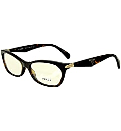 e14ed6e198da Prada Women s PR 15PV Eyeglasses 55mm at Amazon Men s Clothing store   Prescription Eyewear Frames