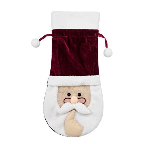 Hoocozi Christmas Wine Bottle Covers Christmas Wine Bottle Bag Santa Snowman Wine Bottle Cover for Party Decorations…