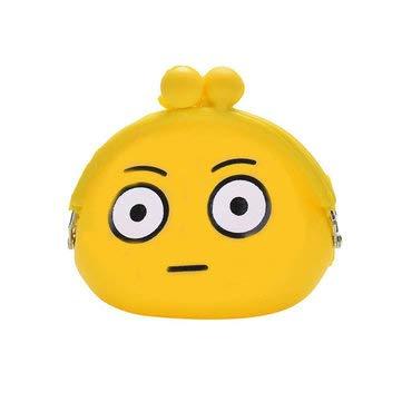 Silica Gel Coins Bag Round Emotion Smiley Doll Makeup Storage Pouch Handbag - Outdoor Bag Travel & Storage Bags - (A) - 1 x coin purse -