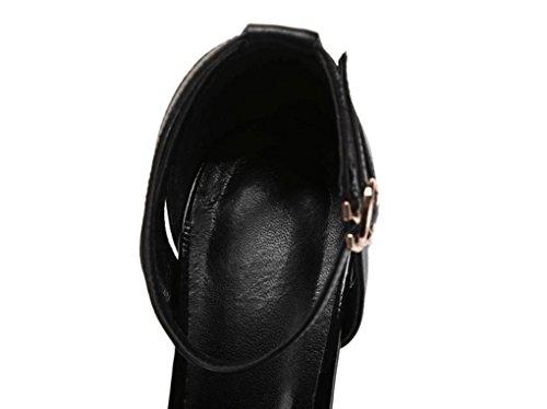 Mode Sweet La Stilettos Mouth Style Amérique Été Zsshj À Fish Femme Et Chaussures Jazs® Sandales Sexy Noir Europe New Fashion Élégant fzYYW1ZHU