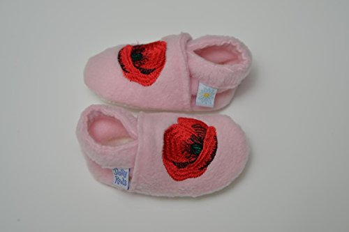 Daisy Roots zapatillas de amapola blanco blanco Talla:6-12 meses rosa