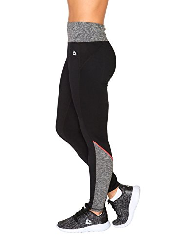 RBX Active Women's Brushed Back Leggings Black S (Mustache Spandex Sheer Pantyhose)