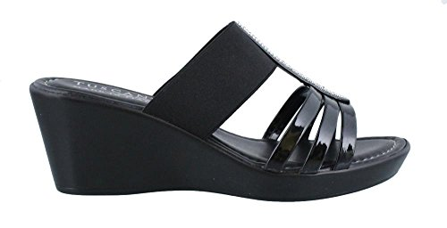 Easy Street Women's Tuscany, Etna Mid Heel Sandals Black 8 (Easy Street Mid Heel Sandals)
