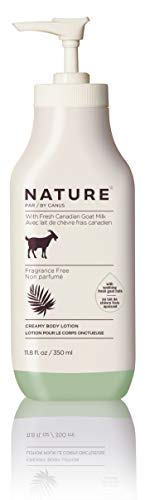 Nature By Canus Creamy Body Lotion, Fragrance Free, 11.8 Oz, With Smoothing Fresh Canadian Goat Milk, Vitamin A, B3…