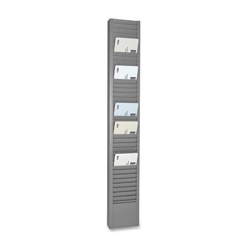 Steelmaster Swipe Card Racks, Vertical, 3''x1''x18-7/8'', Gray (20501)