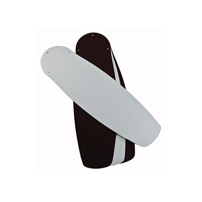 31n0dEjdUWL El ventilador de techo para interiores de 105 cm, con acabado en acero pulido y con estilo contemporáneo es ideal para habitaciones de hasta 15 metros cuadrados con techos altos estándar o inclinados. Cuatro palas reversibles disponibles en plata/negro, juego de luces con cristal esmerilado opal utiliza una bombilla base E27, máximo de 60 vatios (no incluido), usar con bombilla LED 37128 Interruptor inverso verano/invierno, mando a distancia adaptable