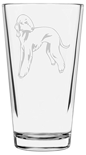 Bedlington Terrier Dog Themed Etched All Purpose 16oz Libbey Pint Glass