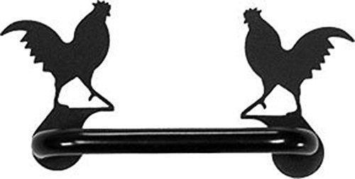 Iron Rooster Horizontal Cabinet Door Handles -One Handle-Black Metal