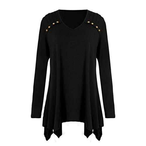 Women Autumn Blouse Winter Loose Long Sleeve Button Plus Size Tops Blouse T-Shirts ❤️ -