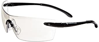 Smith & Wesson 23008 Caliber Safety Glasses, Indoor/Outdoor Anti-Fog Lenses with Black Frame