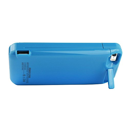 iPhone 5 Battery instance SQDeal moveable 4200mah External Battery Charger instance Protective Cover potential Power Bank for iPhone 5 5S 5C SE featherweight Blue Battery Charger Cases