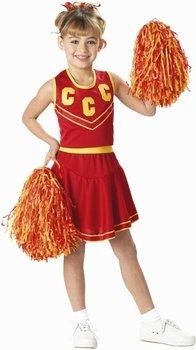 Childu0027s Red u0026 Gold Cheerleader Costume (Size Large ...  sc 1 st  Amazon.com & Amazon.com: Childu0027s Red u0026 Gold Cheerleader Costume (Size: Large 10 ...