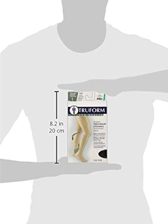 cf8f7e3c0f5 Medium 8810WH-M Truform Closed Toe Thigh High 18 mmHg Anti-Embolism  Stockings White