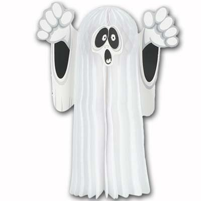 Halloween Tissue Hanging Ghost 14in. Pkg/12 ()