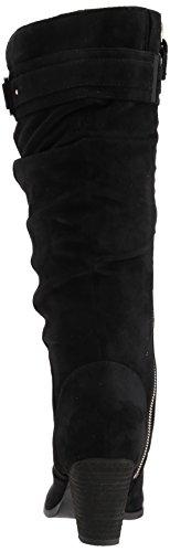 Microfiber Scholl's Shoes Boot Devote Women's Black Dr Riding 8qC0Cv