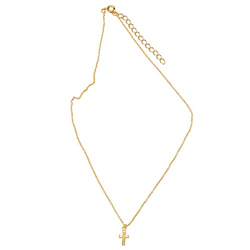 Mud Pie My First Cross Necklace Christening Gold, Gold