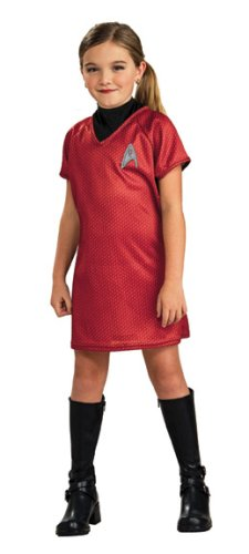 Star Trek Costumes For Girls (Star Trek Movie Child's Red Dress, Medium)