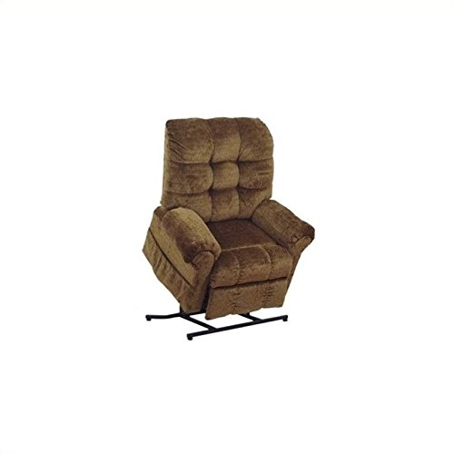 (BOWERY HILL Power Lift Full Lay-Out Chaise Recliner Chair in Havana)
