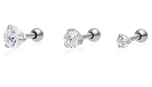 Stainless Steel Studs Cartilage Include
