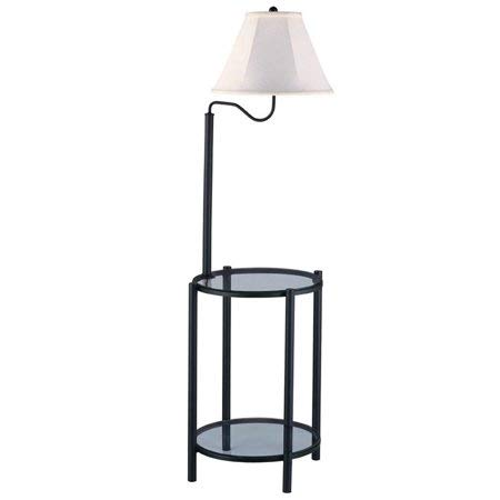 Mainstays Transitional Glass End Table Lamp, (Matte Black, 2 Pack)