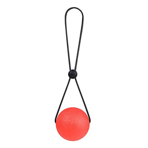 TEX Stress Ball on a String - Portable Fidget Squeeze Toys Strengthen Hand Exercise and Relieve Tension Best Gift for Women Men 2.1inch (Red)