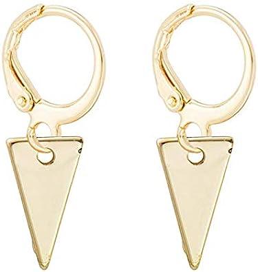 Pendientes CHENQ Nuevos pendientes de aro pequeños Pendientes de aro de cartílago dorado para niña Joyas Corazón Cruz Estrella Triángulo Pendientes con dijes