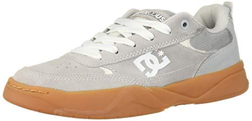 DC Men's Penza Skate Shoe, Grey/Gum, 9 M ()