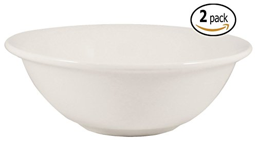 Cameo Ceramic Noodle Soup Bowls with Pan Scraper, Set of 2, White Ivory (8 Inch, 26 (Cameo Egg)