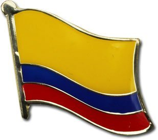 [Colombia Flag Backpack/Hat Pin / Collectible Olympic Travel Pins Bandera Colombiana Boton (Colombian pin, 0.75