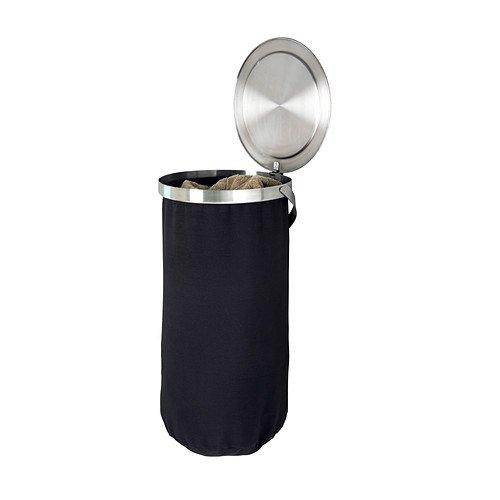 Ikea Wäschesack ikea grundtal laundry bin stainless steel black 47 l