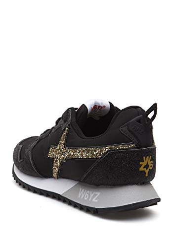 E W6yz Nylon Nero In w Pelle Jet sneakers aaXgOq
