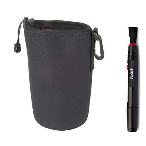 OP/TECH USA 7801182 Snoot Boot Lens Pouch, Wide Body XXL (Black), and Focus Lens Pen Kit