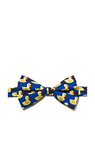 Danggi Mens Pre-Tied Adjustable Rubber Duck Bowtie - Blue - One Size Bow Tie